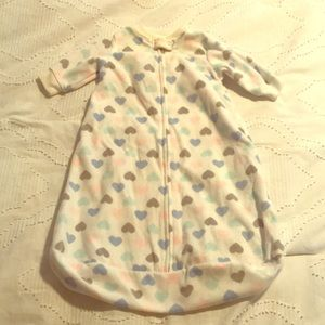 Fleece zippered sleep sack size S